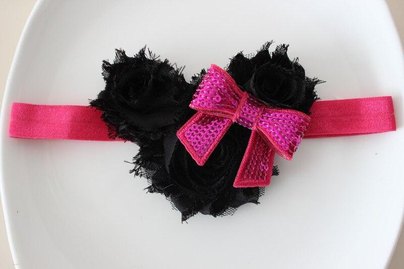 Boutique girl Minnie Mouse headband shabby flower with bow headband foe headband Photo Prop