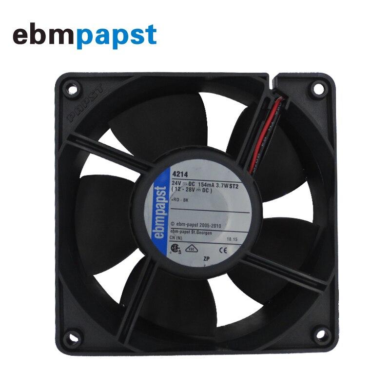 Ebm-papst 4214/2HPU DC Cooling Fan 4V 4.6W 4-wire 120X120X38mm Server Square Axial Fan