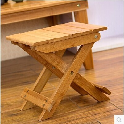 Portable Folding Camping Stool Chair Seat For Fishing Festival Picnic BBQ Beach With Boxwood