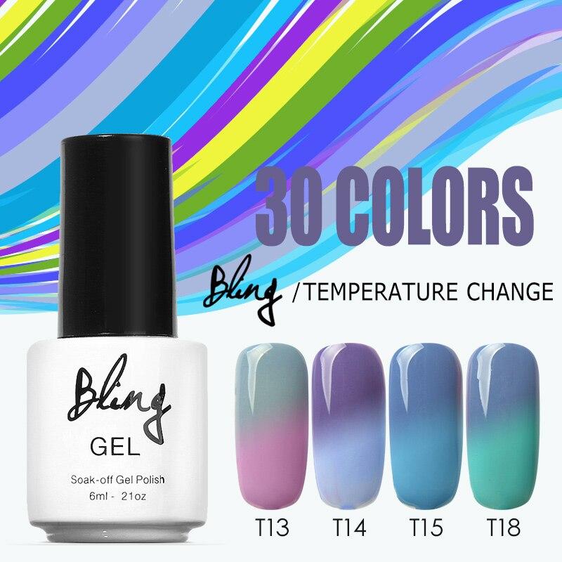How Long Does Nail Polish Remover Last: BILING 6ml UV Nail Temperature ChangingGel Polish Quick
