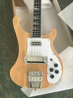 Natural Color Rickenback custom 4003 firglo 4 strings bass guitar rick bass double output injacks mono & stereo