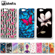 AKABEILA Soft TPU Bumper Phone Cases For Sony Xperia Z1 Compact D5503 Z1 Mini M51W 4.3 inch Z1Mini Covers Nutella Flamingo Bags(China)