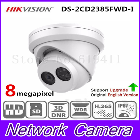 HIKVISION CCTV Camera 8MP Network Turret Security Camera DS-2CD2385FWD-I Original English Version HD IP Camera built-in SD card hikvision english version ds 2cd2025fwd i 2mp ultra low light network mini bullet ip security camera poe sd card h 265