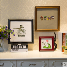 Widened European solid wood Square photo frame picture wedding Baby gift Home decoration 6/7/8/10/12 Inch