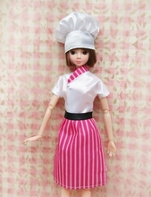 Handmade Dolls Cosply Costume Chef Clothes For Barbie Doll & Hat For 1/6 BJD Dolls Kids Toy