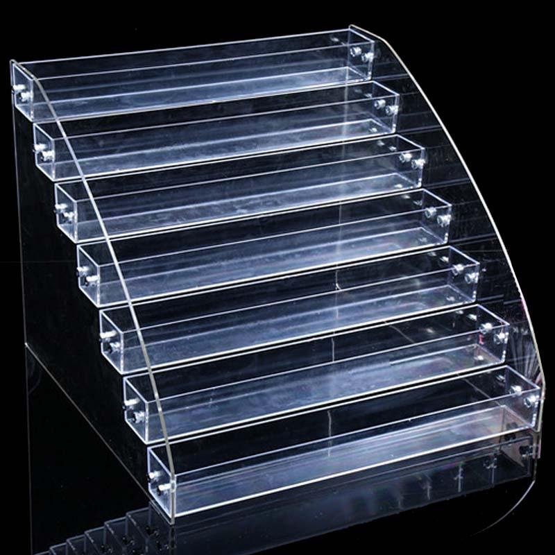 Clear Acrylic Nail Polish Rack 7 Layer Integrated Nail Display Shelf Nail Vanish Storage Glasses Display