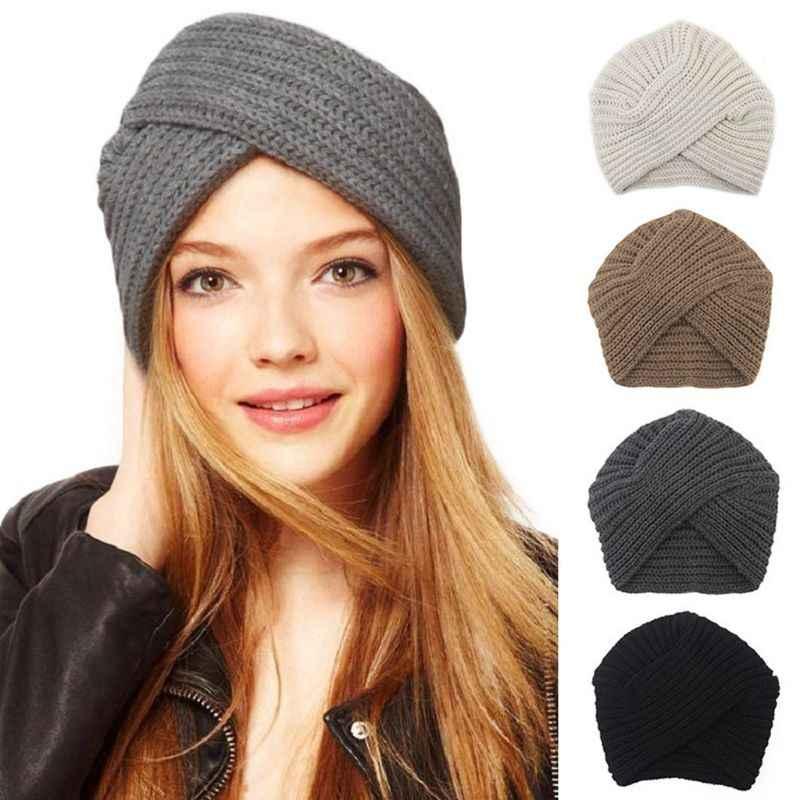 2c4ba7b7 Knitted Winter Hat Ethnic Wrap Wool Hat Women Turban Caps Twist Knitted  Handmade Slouchy Beanie Headwrap