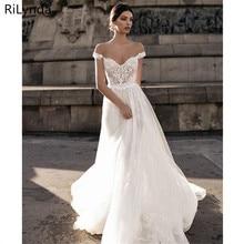 Seksowna suknia ślubna Boho długa, bez pleców biała plaża aplikacje do sukni ślubnej koronki V Neck księżniczka suknia dla panny młodej darmowa wysyłka