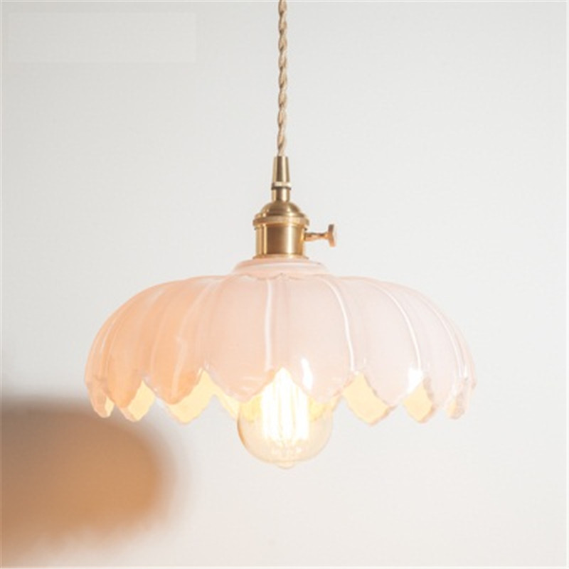 Industrial Loft Style Edison Vintage LED Pendant Light Fixtures Antique Copper Glass Single Hanging Lamp Indoor Lighting one light frosted glass antique rust hanging lantern
