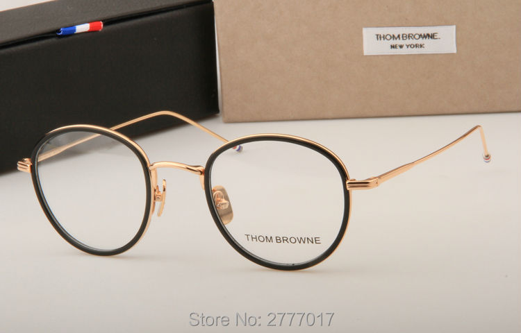 5716aa5fa9f Thom Browne eyeglasses metal frames TB905 men women Oculos Vintage ...
