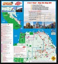カスタマイズされたツアーマップ印刷旅行地図印刷