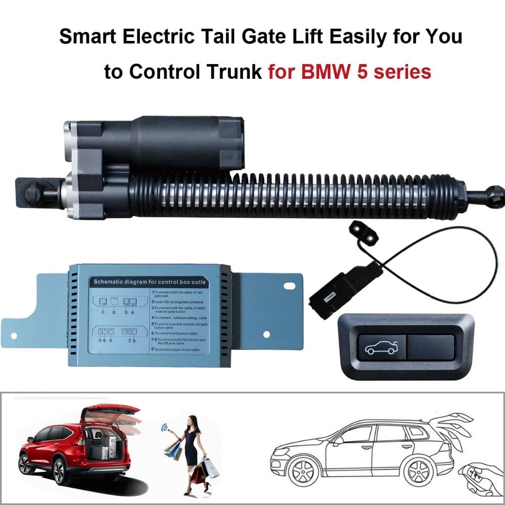 Έξυπνη αυτόματη ηλεκτρική ανύψωση πύλης με ουρά για τη σειρά BMW 5 2011-2016 Τηλεχειριστήριο Ρύθμιση ύψους Αποφύγετε την τσίμπημα με το μανδάλωμα