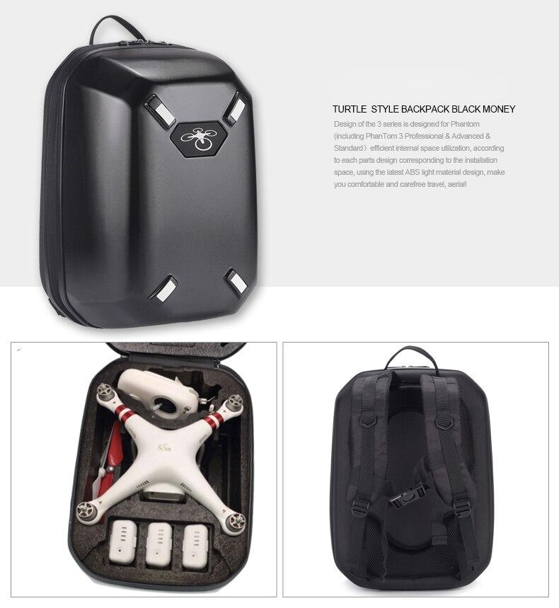 68907b10f4 US $39.95  Più nuovo DJI Phantom 4 3 Zaino Bag Custodia Rigida Guscio duro  per DJI Phantom 3 4 FPV Drone RC Quadcopter in Più nuovo DJI Phantom 4 3 ...