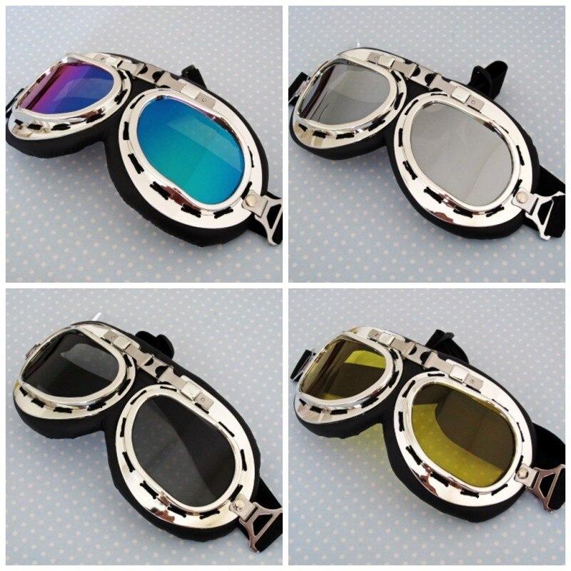 Daft Punk Helmet Goggles Steampunk Accessories Eyewear Silver Frame Motorcycle Glasses Motocross Eyewear Mask Free Size Unisex