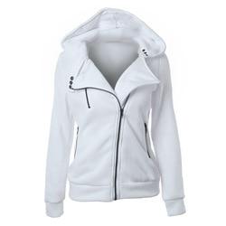 LITTHING Spring Zipper Warm Fashion Hoodies Women Long Sleeve Hoodies Jackets Hoody Jumper Overcoat Outwear Female Sweatshirts 3