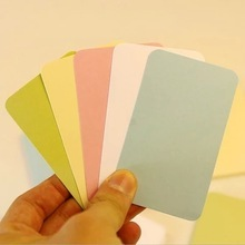 100PCS/SET Colorful Word Cards Blank Small Card Message DIY Bookmarks Into Kraft Box