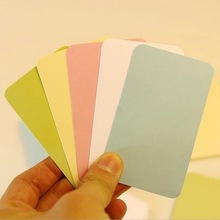 100PCS/SET Colorful Word Cards Blank Cards Small Card Message Card DIY Bookmarks Into Kraft Box