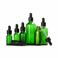 5 100ml 1 ctn Portable gold silver black circle green Glass dropper Essential Oil Bottles Cosmetics Container Travel