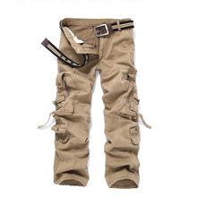Mens Cargo Pants Casual Pant Multi Pocket Military Overall Men Outdoors High Quality Long Trousers