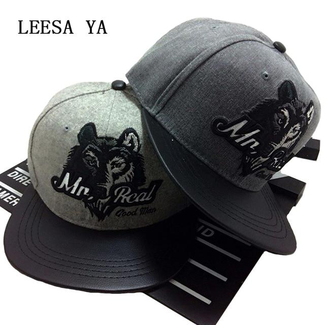 1743e0080f8 Fashion Chapeau Men Gray Baseball Cap Wolf Undefeated Snapback Hats Hip-Hop  Cap Adjustable Bboy Cap High Quality Bone Aba Reta