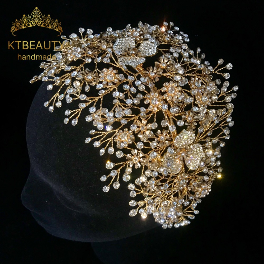 New Luxury Crystal Silver/Golden Crown Tiara Bigger Custom Made Rhinestones Royal Queen Princess Pageant Party Crown Bridesmaids-in Hair Jewelry from Jewelry & Accessories on Aliexpress.com | Alibaba Group