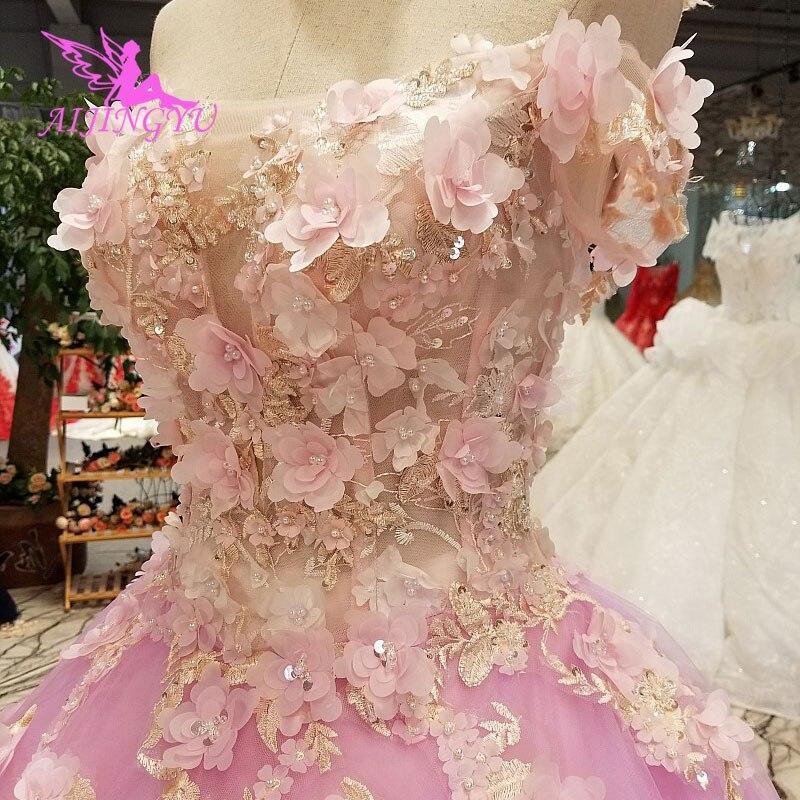 AIJINGYU robes de mariée Junior robes uniques mariée achats en ligne Designers robe de mariée robe de mariée avec luxe détachable
