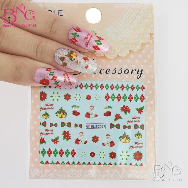 Aliexpress  Buy 50pcs Nail Sticker NEW 2015 Merry Christmas - watermark christmas