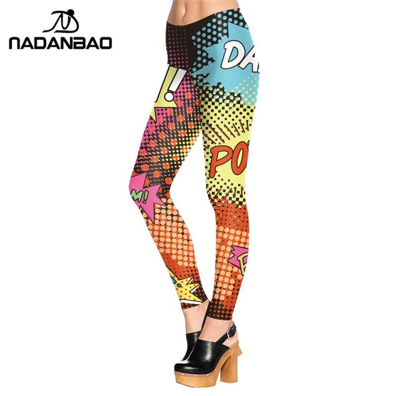 NADANBAO New Design Summer   Legging   Rock Style Legins Individuality ROCK AND POP Leggins Printed Women   Leggings   Woman Pants