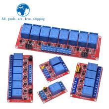 Релейный модуль 1 2 4 6 8 каналов 5 в 12 В релейный модуль Плата щит с опора для оптопары высокий и низкий уровень триггера для Arduino