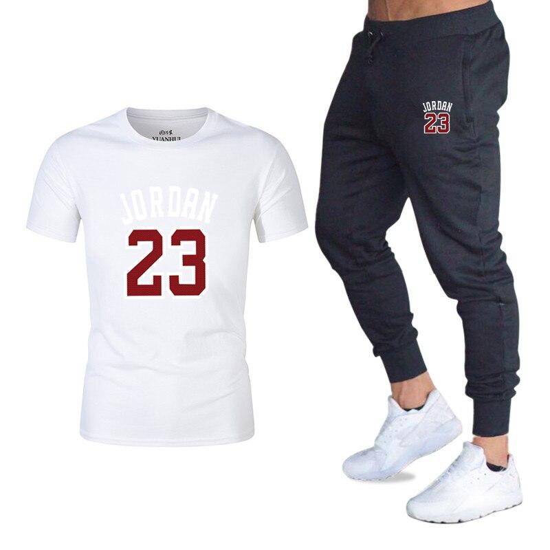 2019 Flut Marke Sets Sommer Männer T Shirts + Hosen Sets Sommer Heißer Verkauf Baumwolle Komfortable Kurzarm T-shirt Männer Casual Set Hose Kaufe Jetzt