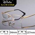 Новая мода мужская оправы titanium frame очки 8257 чистого titanium половина очки кадров очки по рецепту