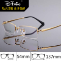 New fashion mens eyeglass frames titanium frame glasses 8257  of pure titanium half eyeglasses frames prescription eyewear