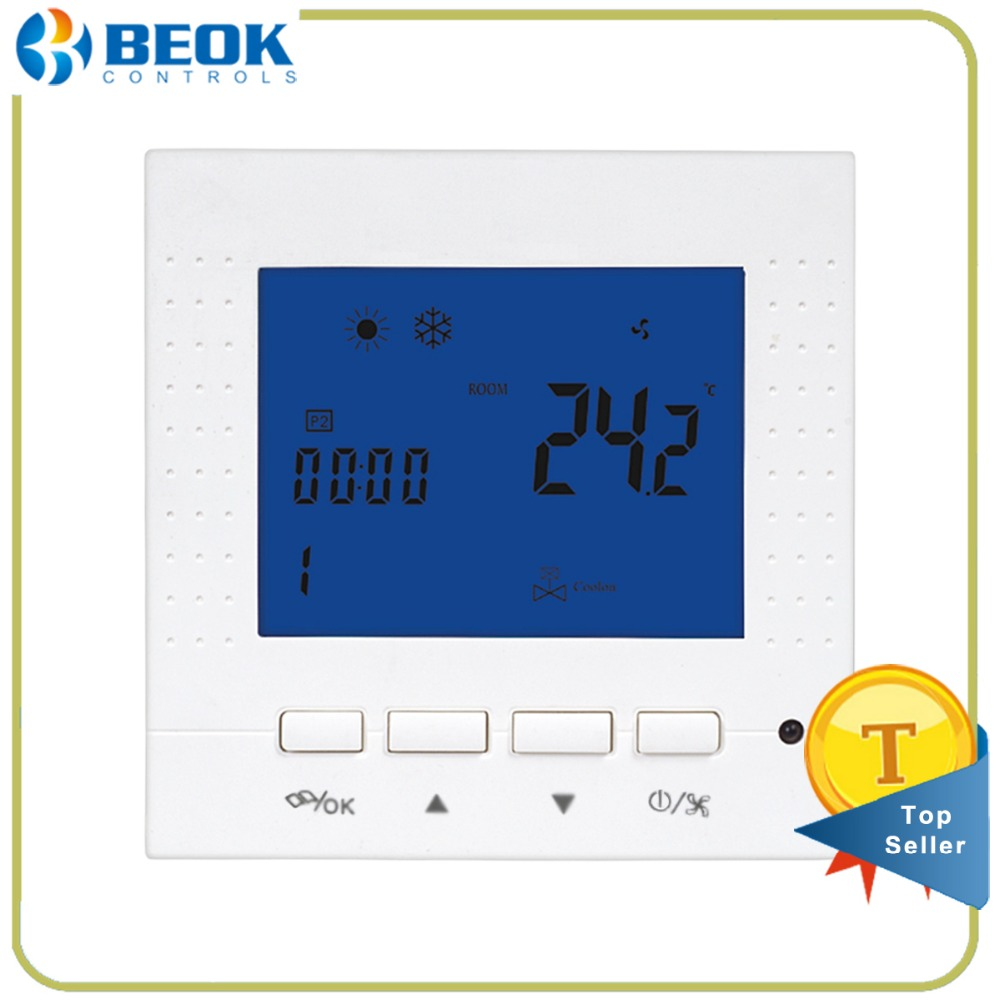 Beok Tol40s Ac2 Programmable Fan Coil Fcu Ac Thermostat Smart Air Conditioner Central Conditioning Room Temperature Controller 2 Pipe In Instruments From