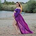 Nova maternidade fotografia adereços fotografia gravidez roupa de maternidade maxi dress maternidade chiffon dress para a gravidez mulher 1
