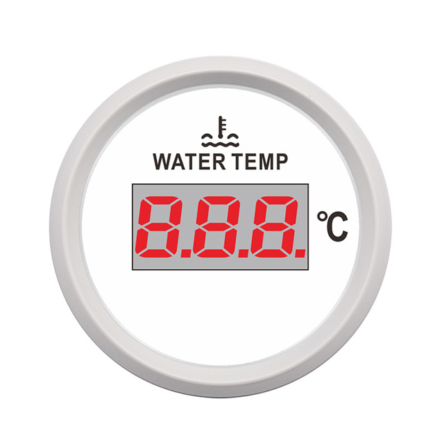 225 & US $21.05 48% OFF|12V 24V Car Water Temperature Indicator Gauge Temp Meter 40~120 Celsius fit for ford focus golf 5 bmw e36 Red Backlight-in Water ...