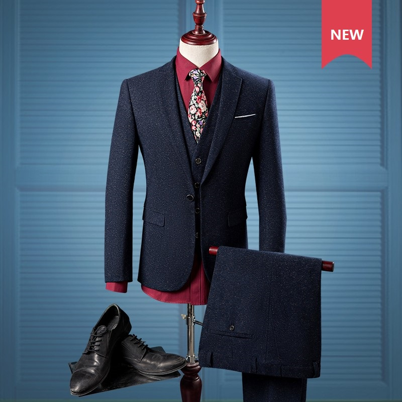 Men Wedding Suits Designs Latest Collection contain hottest trends of two-pieces, three-piece suits, pan coats trends, groom styles of suits! We feature latest fashion trends, designer collections & brands. At StylesGap we do not own any products or images displaying on our site.