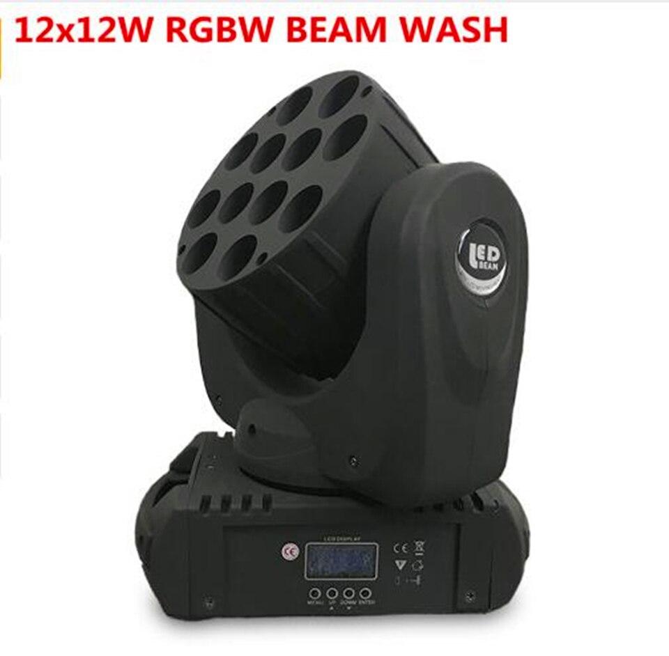 LED 12x12 W lavagem cabeça em movimento levou luz do estágio rgbw RGBW 4in1 Quad LED Avançada Lâmpada de 9/16 DJ canais DMX Para O Estágio Profissional