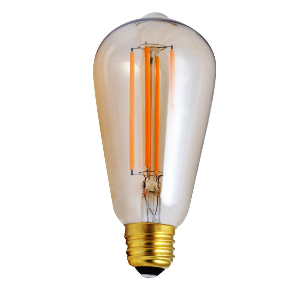 ФОТО Vintage Dimmable LED Filament Bulb,ST64 Edison Style,4W,2200K,Golden Clear Type, Dimmer Switch,Remote Control