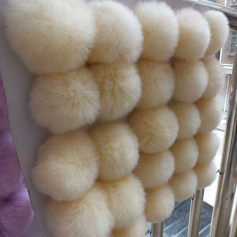 DIY Craft Supplies / Rabbit fur ball diameter 6 / hand diy <font><b>cell</b></font> <font><b>phone</b></font> bag <font><b>car</b></font> keys Hair <font><b>Accessories</b></font> Many Uses / Wholesale