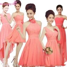 aba1463a5eca classy modern watermelon coral bridesmaid girl formal party dress  bridemaids teen beautiful dresses china for teens