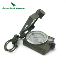 Boundless Voyage Multifunctional Lensatic Compass Prismatic Sighting Outdoor Survival Gear with Dividing Ruler
