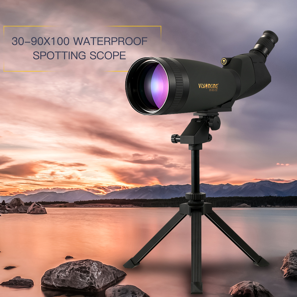 Visionking 30 90x100 Hunting Spotting Scope BAK4 Monocular Telescope Wide View Phone Adapter Sight Scope For