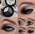 Смоки состава Eyeshadow 3 цветов палитры макияжа металлик ню тени для век с косметические кисти и mirrow