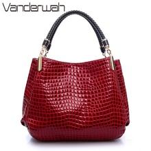 VANDERWAH Bolsas Feminina Women Handbags Hot Sale Brand Shoulder bags High quility PU Leather Crocodile Pattern hand Bags SAC