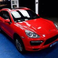 Super glänzend auto wrappen wrap vinyl mit Luftblase 1 52x18 m/rolle Rot