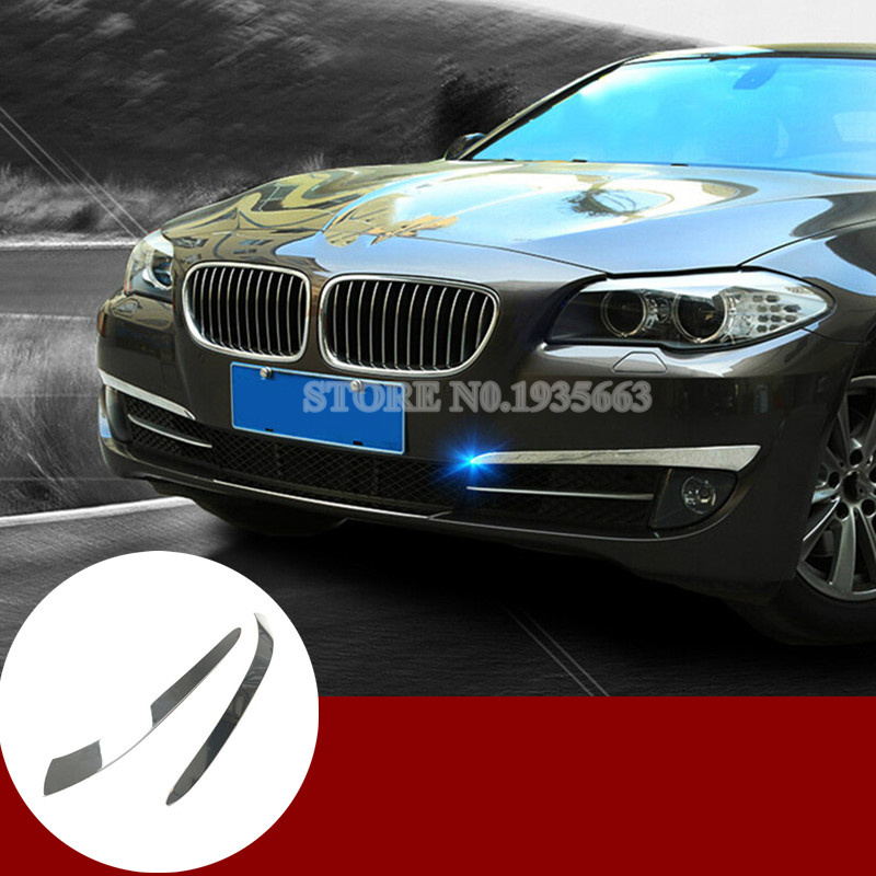 For BMW 5 Series F10 Exterior Front Bumper Fog Light Eyelid Cover 2011-2013 2pcs ownsun innovative super cob fog light angel eye bumper cover for skoda fabia scout