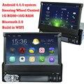 """Pantalla telescópica 1Din 7 """"Android Universal de Coches Reproductor de DVD Con Pantalla Táctil de Navegación GPS Autoradio Car Stereo Audio Bluetooth"""