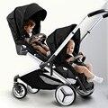 Хороший мальчик близнецы детская коляска многофункциональный регулируемая детская коляска коляска с автомобильных коляска bb566