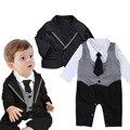 Kindstraum do bebê meninos roupas formais conjuntos Romper + jaqueta para o casamento e festa infantil cavalheiro ternos de estilo, Hc828