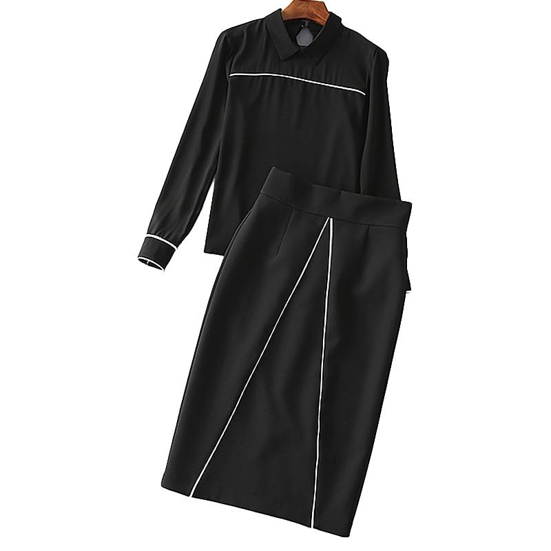 Il Partito Autunno Donne Designer Professionale Lady Passerella Di Nero 2017 Casual Alta Pannello Qualità Trasporto Vintage Nuove Esterno Modo Vestito Pista N08wmn